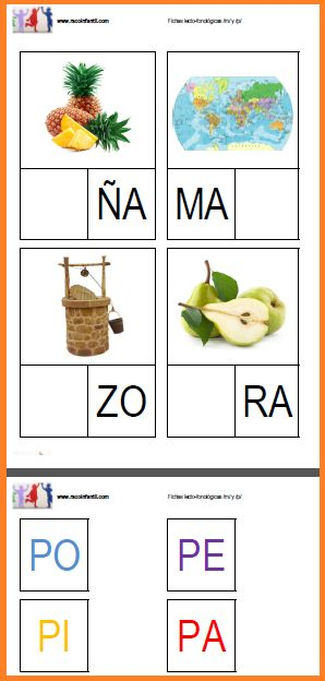 Hoy os traemos unas fichas lecto-fonéticas para que uséis con vuestros niños/as en las aulas. http://goo.gl/p9d4YY