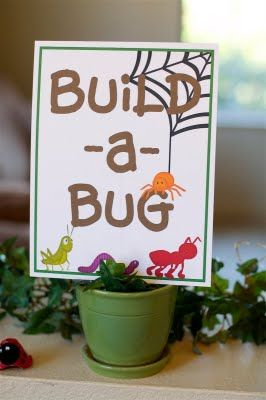 Bug party.  I'm thinking of doing this for Brayden's 4th.  What boy wouldn't love a bug themed party?