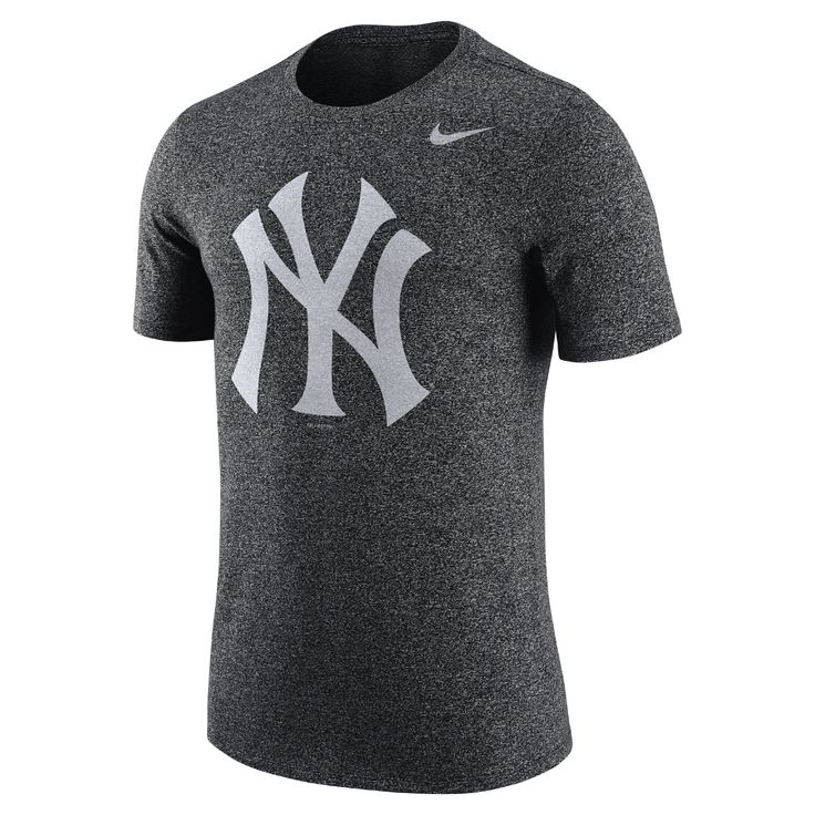Nike Marled (MLB Yankees) Men's T-Shirt Size Large (Grey) - Clearance Sale