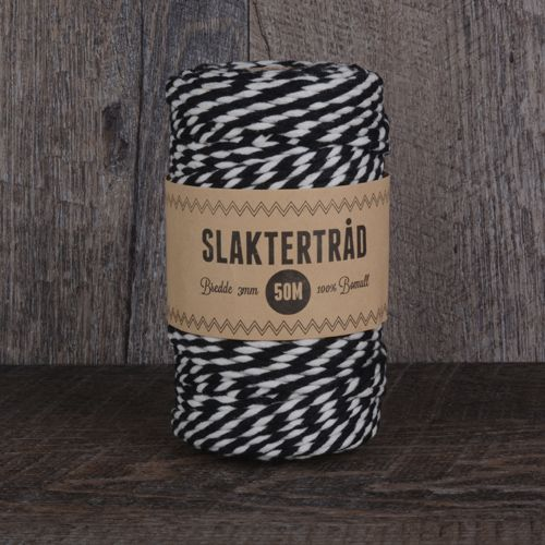 Slaktertråd 3mm×50m Sort og Natur
