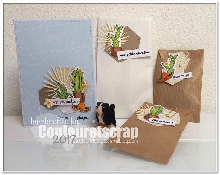 Hello !  Des cactus inspirés d'une image du jeu de l'été sur Little et voici le résultat de l'ensemble cadeau  ...