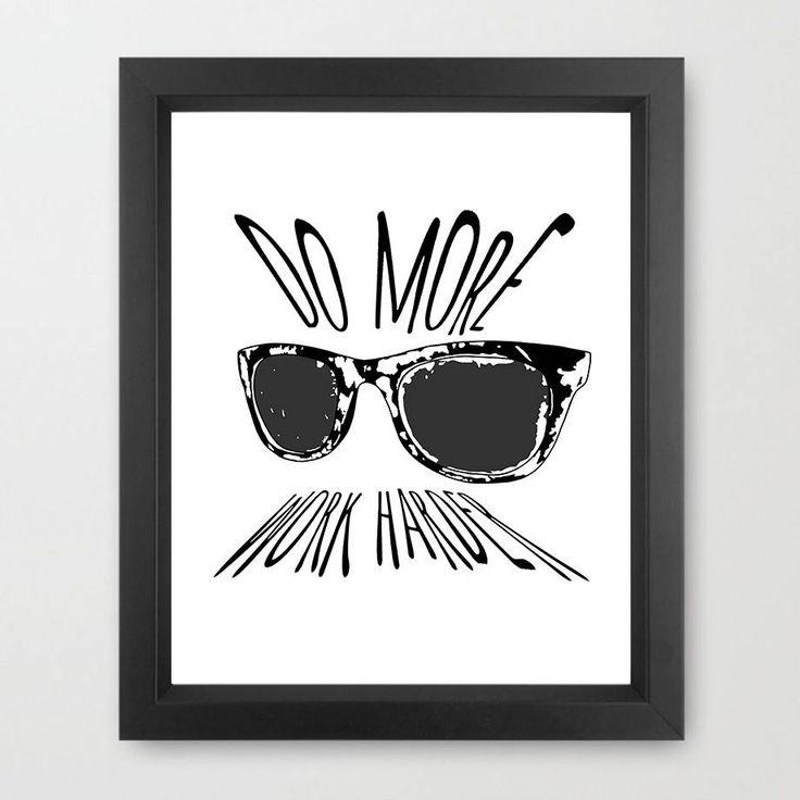 Do More Work Harder Casey Neistat Glasses Poster Youtube Youtber by ArtbyGfox on Etsy