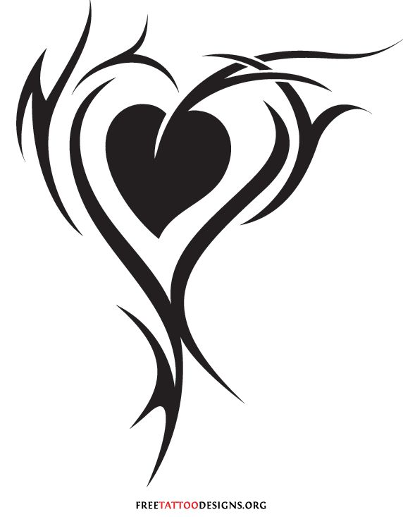 Tribal Love Tattoos | 55 Heart Tattoos | Love And Sacred Heart Tattoo Designs