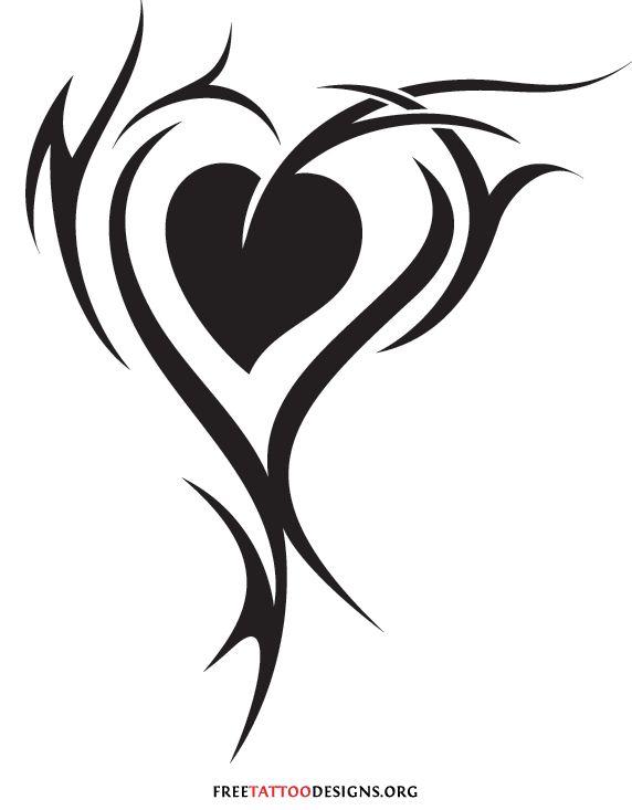 Tribal Love Tattoos   55 Heart Tattoos   Love And Sacred Heart Tattoo Designs