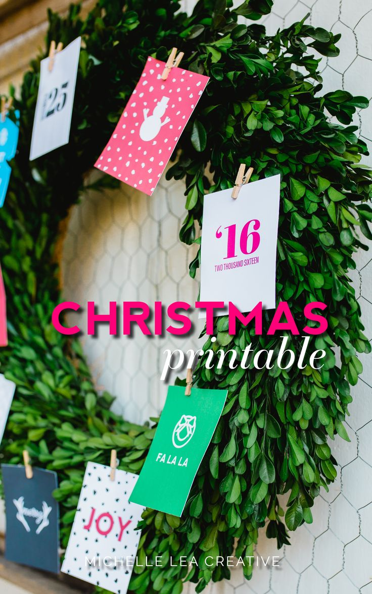 Christmas Tree Printable An easy adorable