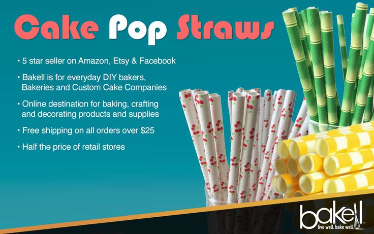 CAKE POP STRAW MEMORIAL DAY SALE! Go to Bakell.com and use code: BAKELL20%OFF1  #decorating_supplies #baking_supplies #buy_bakell