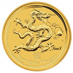 The Year of The Dragon Gold Coin - Buy #Gold for #Bitcoin at gold.all4btc.com