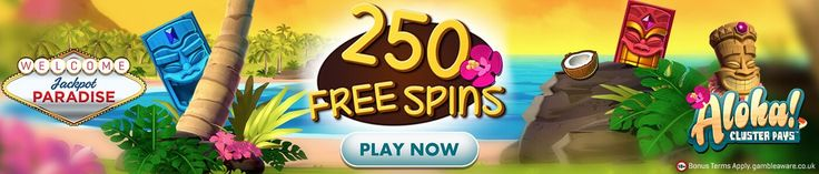 Get FREE 250 SPINS on the first deposit with #Jackpot Paradise! Sign Up Here #Casino #Free #Spins