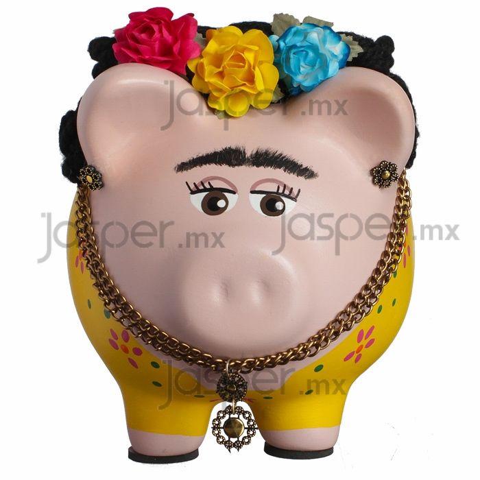 Alcancía cerdito de cerámica - Love Frida