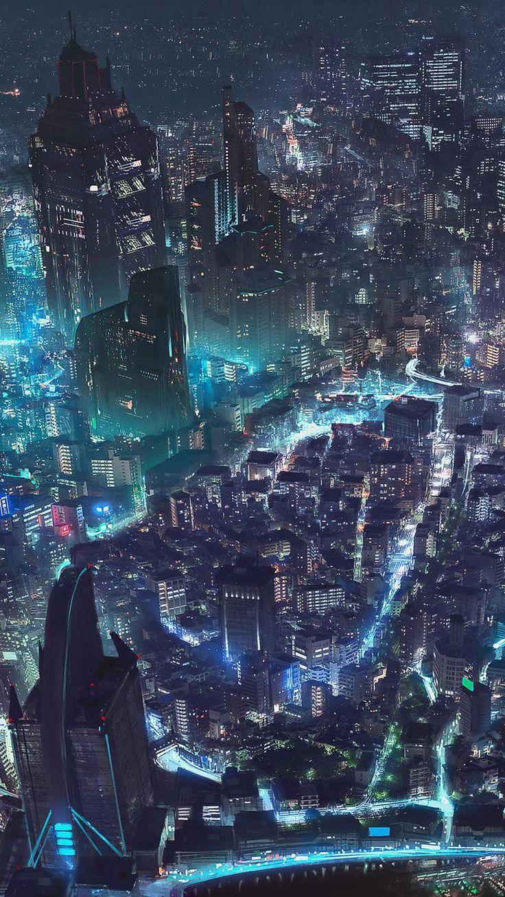 Cyberpunk City iPhone Wallpaper City iphone wallpaper