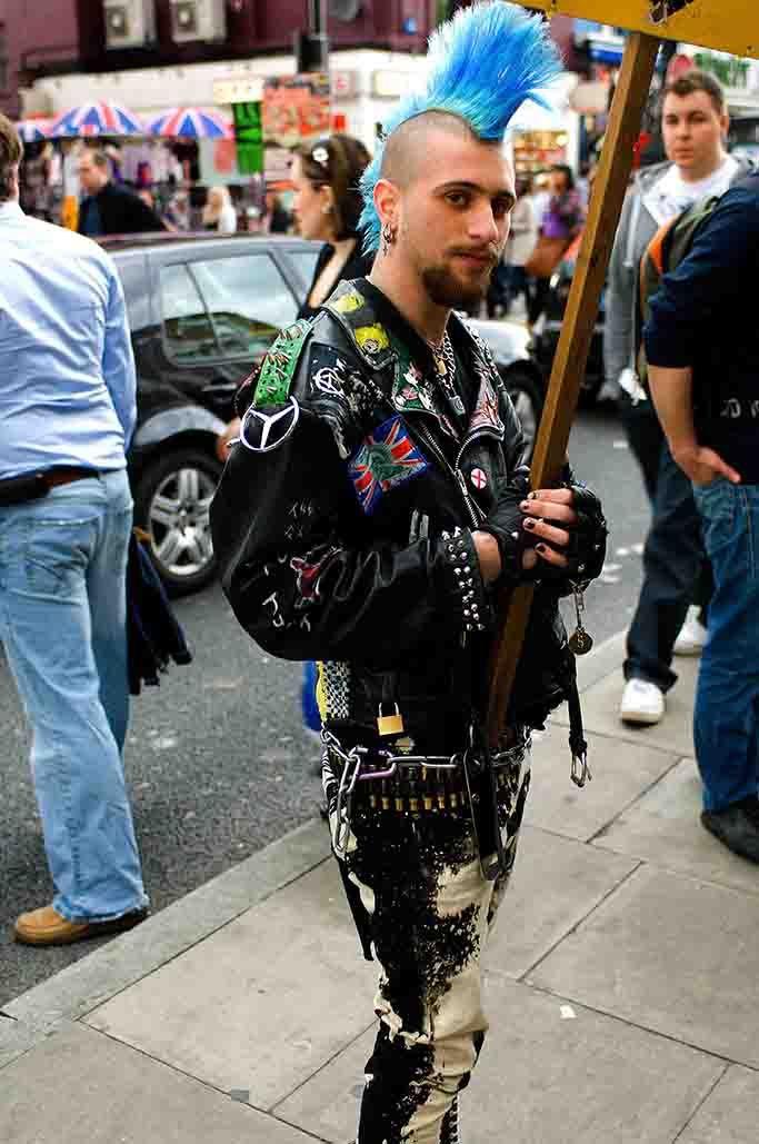 A punk in Camden Town