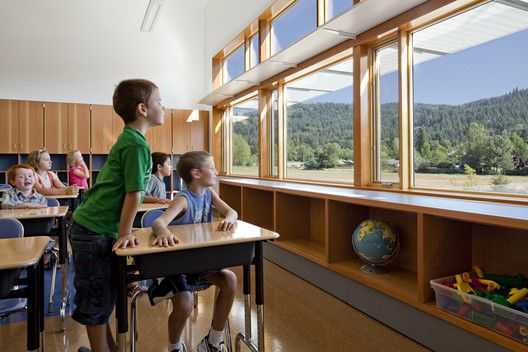 The 8 Things Domestic Violence Shelters Can Teach Us About Secure School Design,Abundant daylight and views to the outdoors promote wellness. Project Name: Thurston Elementary School in the Springfield School District. Photo by Lincoln Barbour.