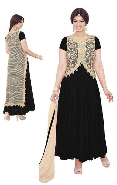 Picture of Fabulous Black Designer Bollywood Salwar kameez