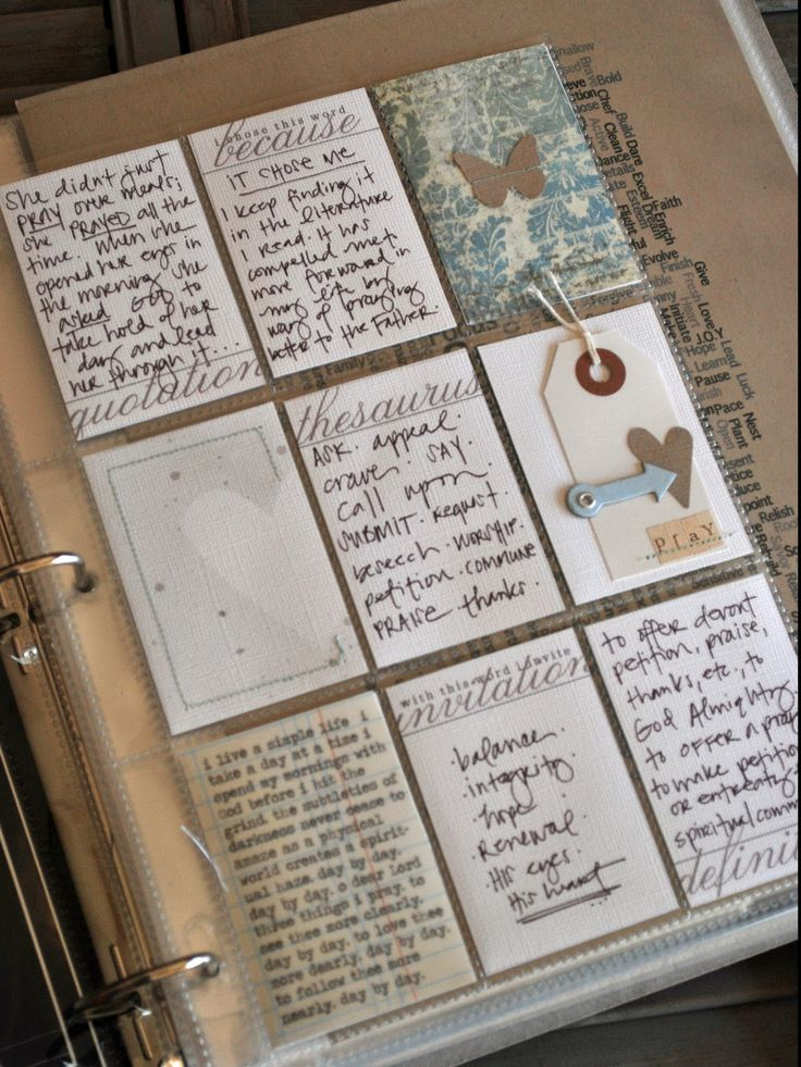Turn ACEOs into an art journal. Original pinner sez: love this idea...a small card a day when your days get crazy...