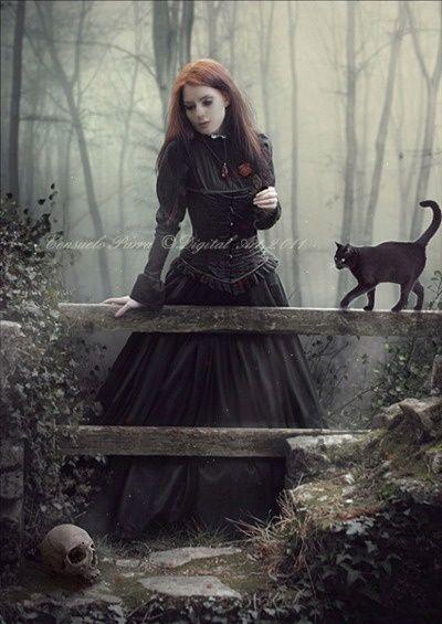 You dark gothic witch girls