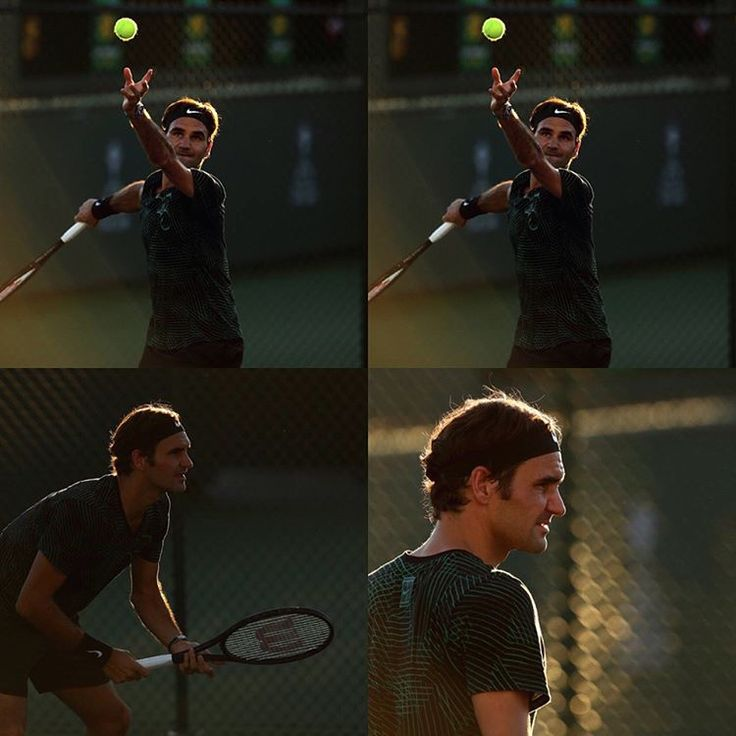 """Mi piace"": 35, commenti: 3 - أخبار التنس العالمية (@tennis4arab) su Instagram: ""* صور من تدريبات روجر فيدرير في انديان ويلز  #tennisplayer #tennis#federer #roger #rogerfederer…"""