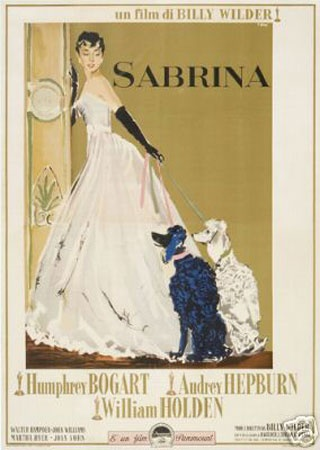 -Sabrina~1954.. Wealthy brothers compete for the affections of their chauffeur's innocent daughter in this seductive Cinderella story.
