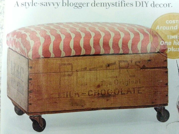 Old Footstools   Old Crate Footstool
