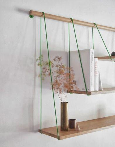 Bridge, décoration, design, étagère, suspendu
