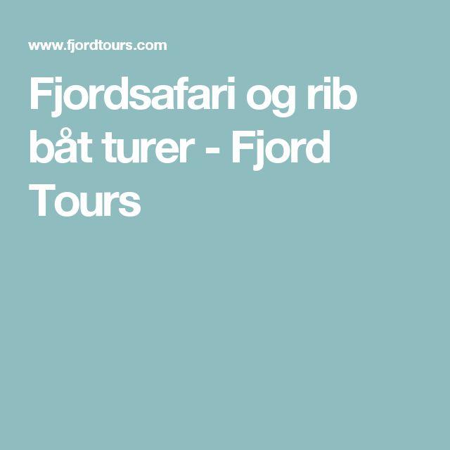 Fjordsafari og rib båt turer - Fjord Tours