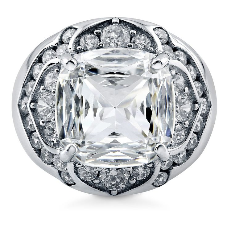 Enter #BerriclePinToWin for $500 in prizes! Enter page >> https://www.berricle.com/giveaway  Sterling Silver Cubic Zirconia Dome Ring