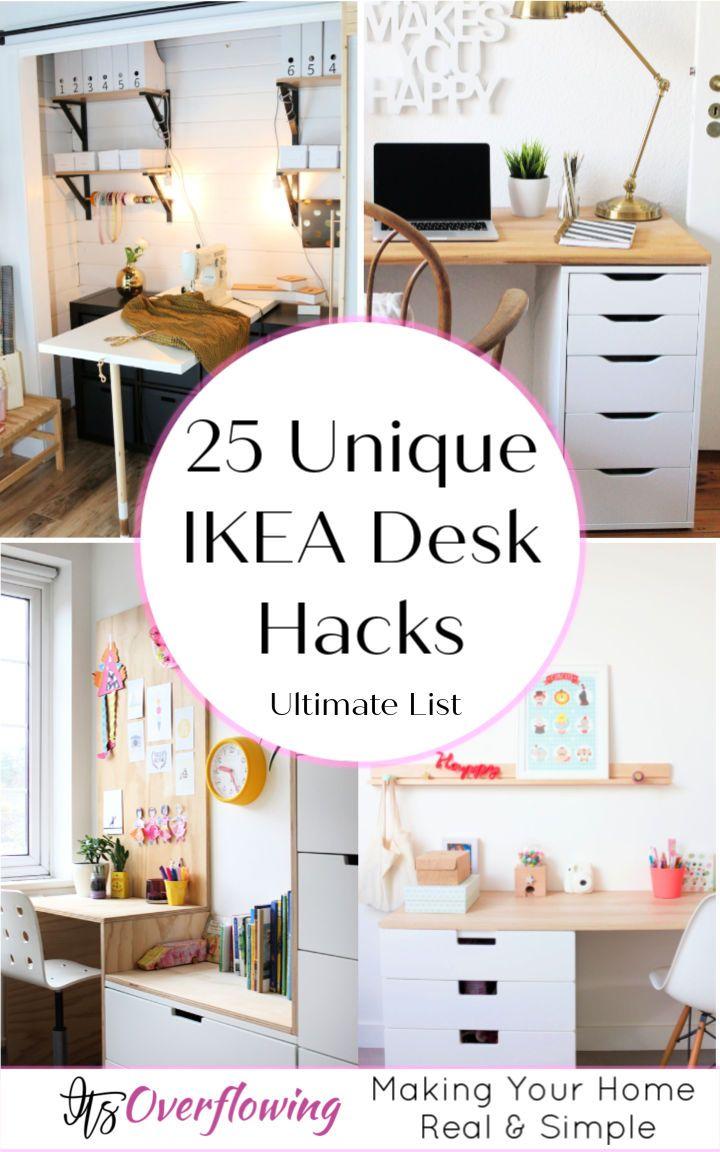 25 Ikea Desk Hacks To Build Your Own Desk In 2020 Ikea Desk Hack Desk Hacks Ikea Malm Desk