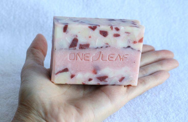 Red Sprinkles Soap - One Leaf Soap-Natural Handmade Soaps