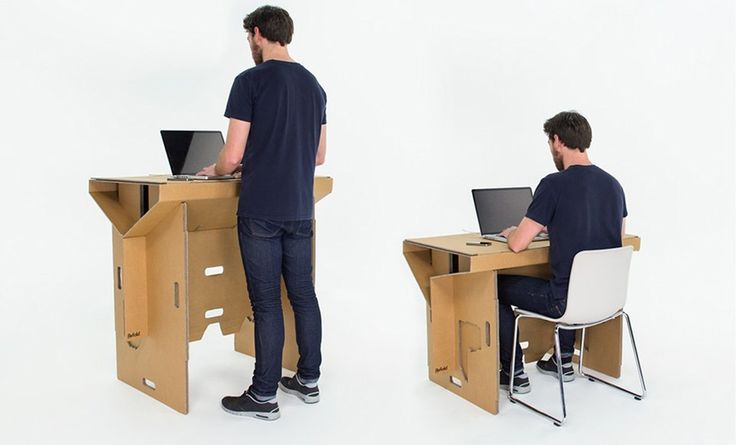 Refold's cardboard standing desk will change the way you work. Find out more at www.racqliving.com.au