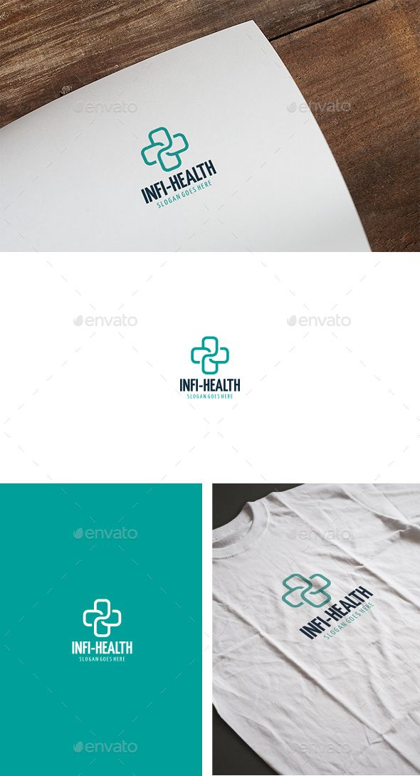 Infinity Health  Logo Design Template Vector #logotype Download it here: http://graphicriver.net/item/infinity-health-logo/13574415?s_rank=406?ref=nesto