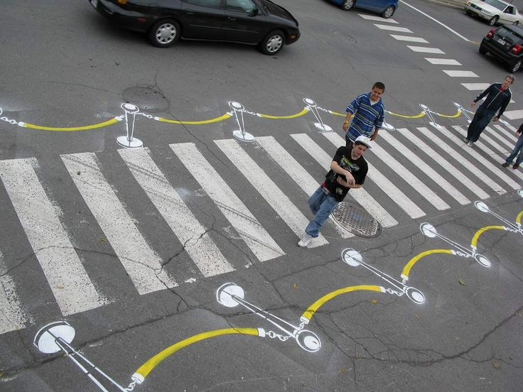 Street Advertising Level 99. Very cool concept for marketing or branding a big event!