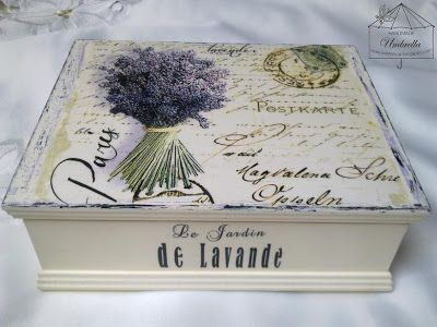 box with lavender