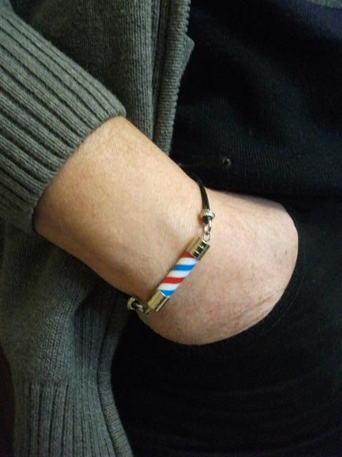 Barber Pole Friendship Bracelet For Man. Barber Pole Knot by neduk