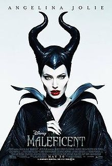 Maleficent (2014):  Starring Angelina Jolie as the eponymous Disney villainess character, the film is a live-action re-imagining of Walt Disney's 1959 animated film Sleeping Beauty, and portrays the story from the perspective of the antagonist, Maleficent.