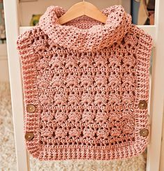 Crochet Pullover PATTERN pdf file Rose Poncho by monpetitviolon Sizes from 1-2y up to Adult XL,