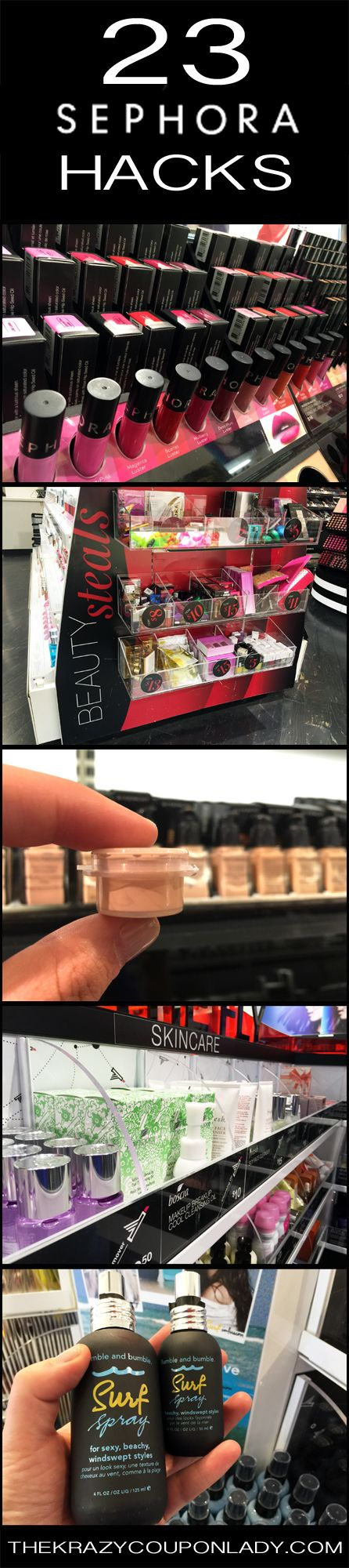 23 Insider Hacks from a Sephora Employee from http://thekrazycouponlady.com/