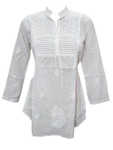Womens Peasant Tunic White Hand Embroidered Cotton Kurta ... https://www.amazon.ca/dp/B01MTCCJNP/ref=cm_sw_r_pi_dp_x_.opRzbEB59AB2  #TUNIC #BOHO #FASHION #HIPPIE #SALE #WHITE #GIFT #BOHOHIPPIE #GIFTFORHER