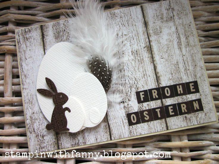 stampin up ostern karte easter hase bunny eier framelits holzpapier kesi art dies - STAMPINWITHFANNY