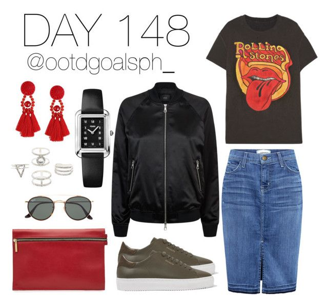 """""""Day 148"""" by mfya91 on Polyvore featuring Axel Arigato, Current/Elliott, MadeWorn, Victoria Beckham, SET, Charlotte Russe, Fendi and Ray-Ban"""