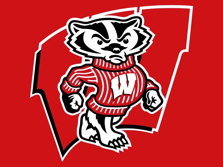 Wisconsin Badgers logo: Badger Logos, Badger Mom, Badger Football, Ncaa Logos, Badger Wisconsin, Uw Badger, Sports Logos, Wisconsin Badger, Football Team