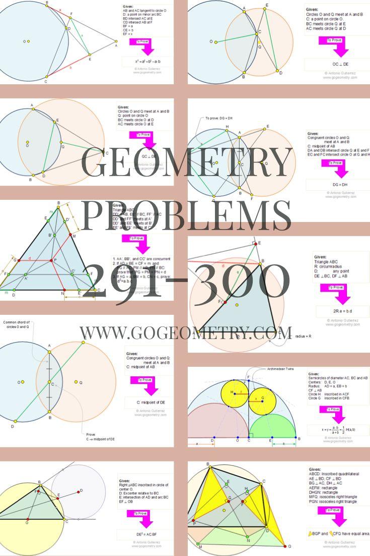 geometry problems 291300 Geometry problems, Geometry