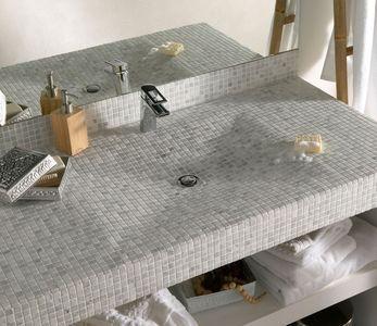 plan de toilette à carreler