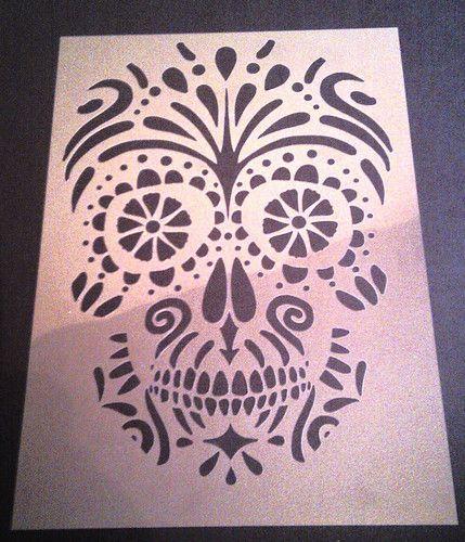 The 25+ best Sugar Skull Stencil ideas on Pinterest ...