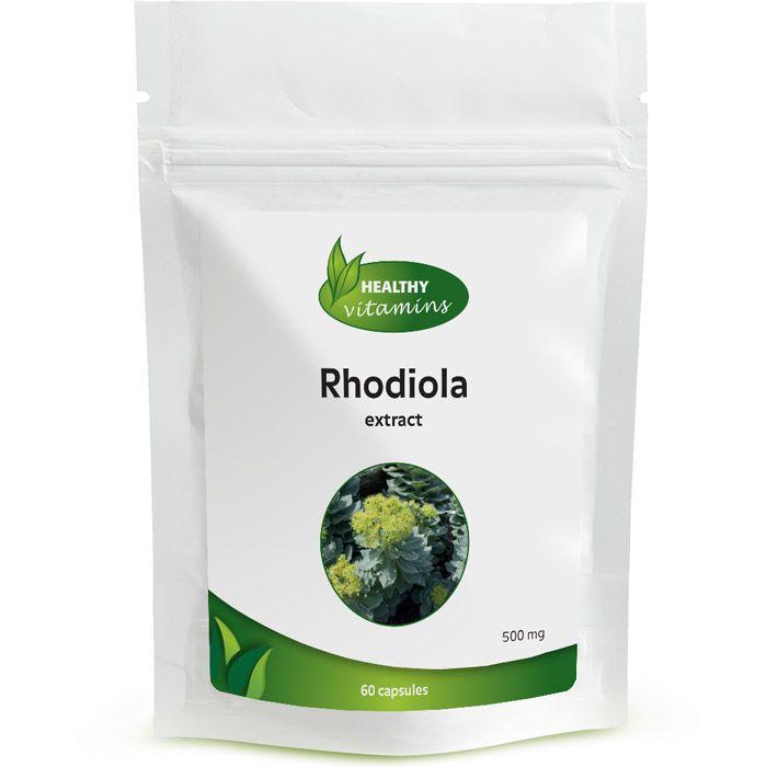 Rhodiola rosea is een kruid dat gebruikt kan worden voor een goede gemoedstoestand en bij stress-situaties. De Rhodiola van Vitaminesperpost behoort tot een van de hoogst gedoseerde in Nederland. Het kan u ook meer energie geven. Rhodiola is een supplement dat gebruikt kan worden bij vermoeidheid. Vrouwen kunnen het gebruiken bij prikkelbaarheid en spannende tijden. Geschikt voor vegetariërs!