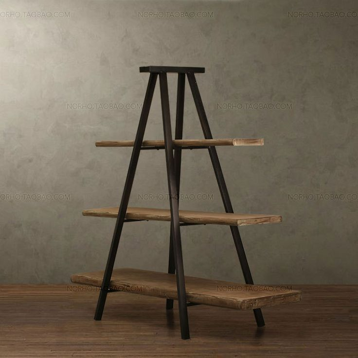 American-country-retro-tower-font-b-iron-b-font-wood-bookcase-bookcase-display-racks-do-the.jpg (750×750)