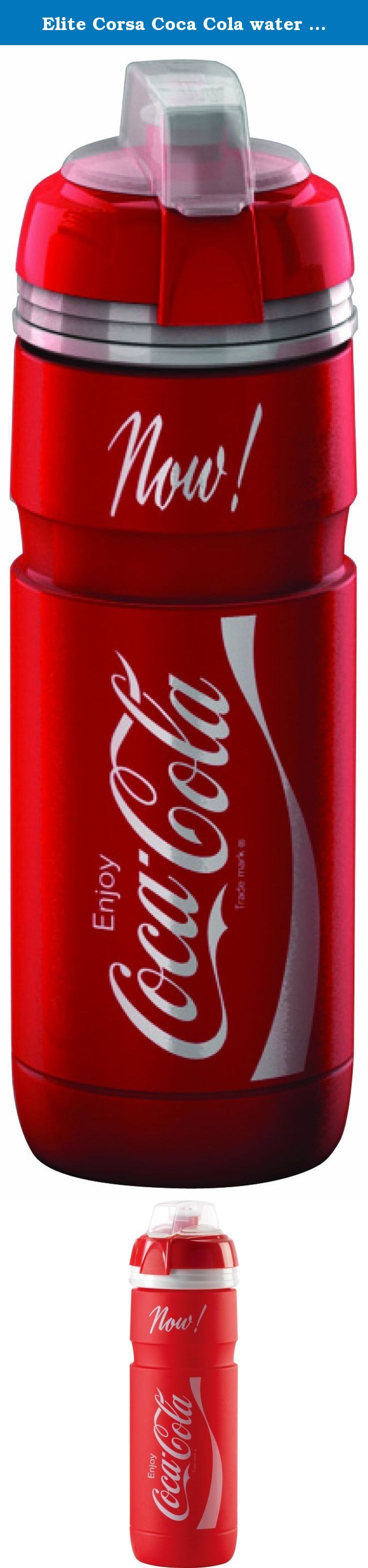 Elite Corsa Coca Cola water bottle plastic 750 ml red/white. Type/Intended use: drink bottle for adults Material: plastic Fastener: press lock Size: Volume: 750 ml .