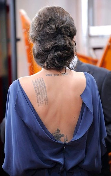 """Angelina Jolie tattoo """"know your rights"""" 