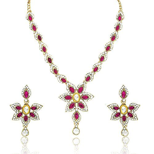 Dazzling Indian Bollywood Pink Stone Wedding Wear Cz Gold... https://www.amazon.com/dp/B06Y5NCY3P/ref=cm_sw_r_pi_dp_x_IUB7ybH4Z3HCG