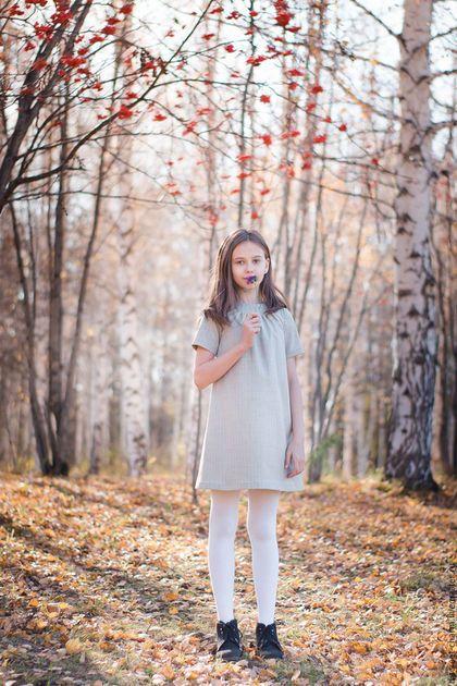 Wool dress for girl / Одежда для девочек, ручной работы. Заказать Детское осеннее зимнее тёплое платье, серое, нарядное, шерстяное. Скромное обаяние (Александра). Ярмарка Мастеров.
