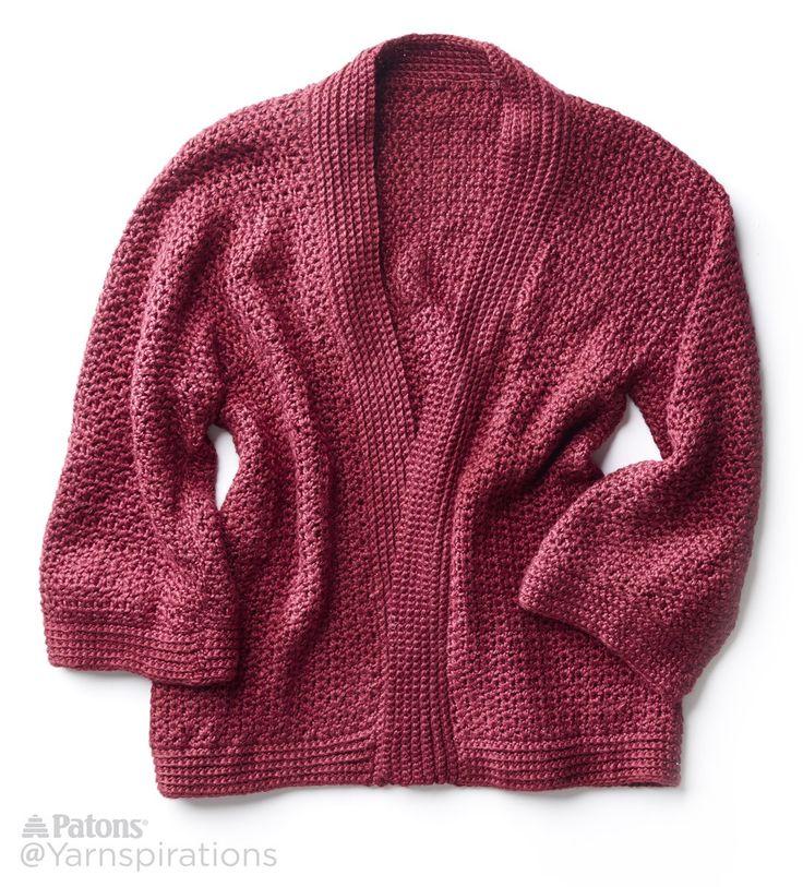 Soft Drape Kimono Crochet Jacket - FREE Pattern | Yarnspirations