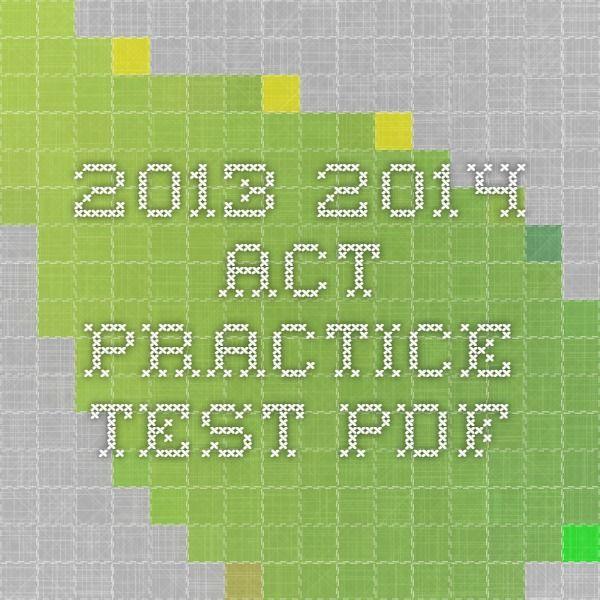 2013-2014 ACT Practice Test pdf